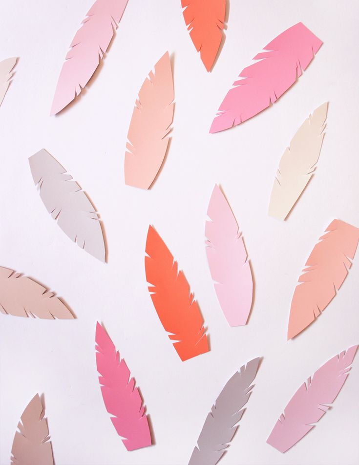 DIY paint swatch feathers. So many uses for these free color chips.