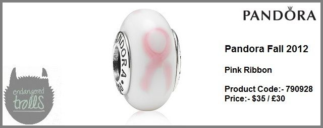 Pandora Fall 2012 Pink Ribbon Murano