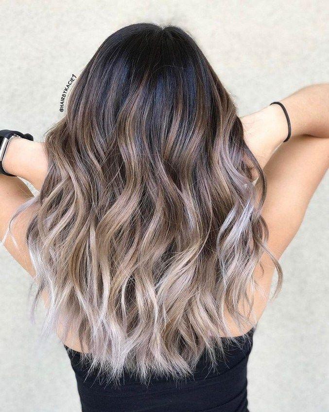 10 estilos de cabelo médios a longos, ideias de penteados para mulheres 2019 32 »Eknom-Jo.com