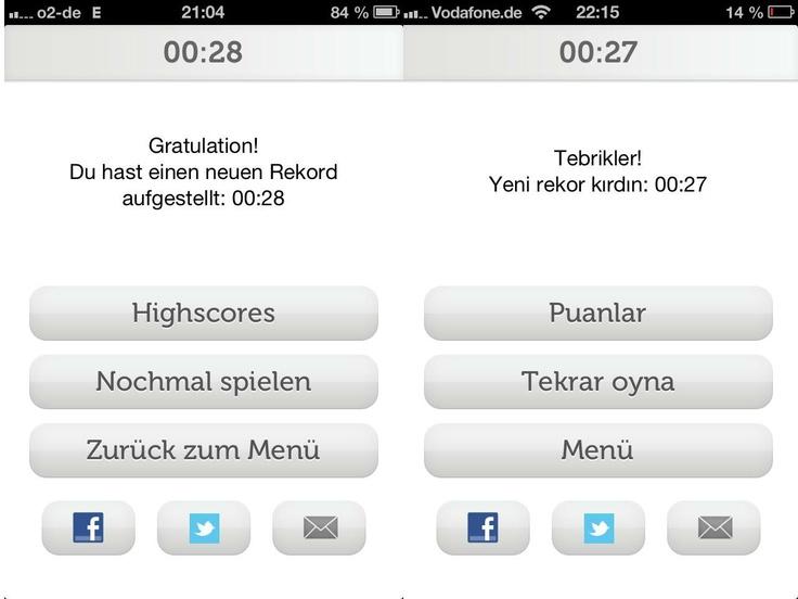 """Unter den Kolleginnen und Kollegen hier in Reutlingen hat ein kleiner Wettstreit begonnen, wer bei der """"Turkish Airlines Destination Pairs"""" am schnellsten ist. Unterbietet jemand die 27 Sekunden? (Kostenloser Download für iPad und iPhone hier: http://appstore.com/turkishairlinesdestinationpairs )"""