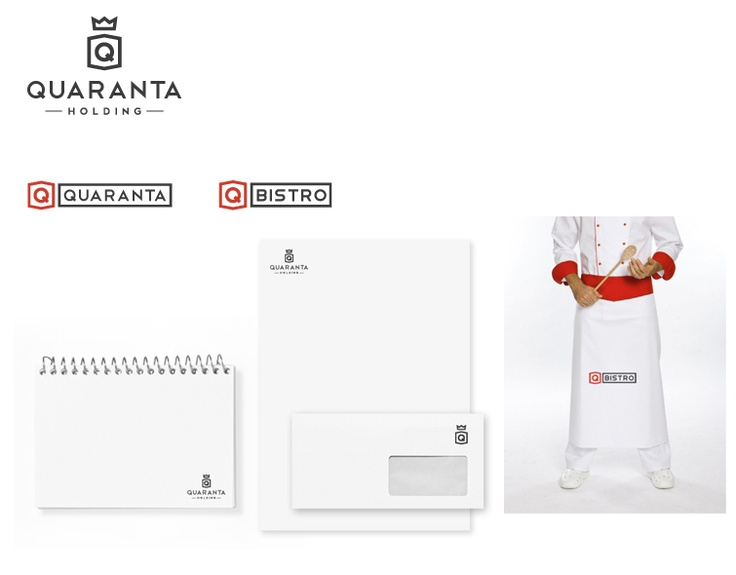 Logotype and corporate identity - Quaranta holding, s.r.o.