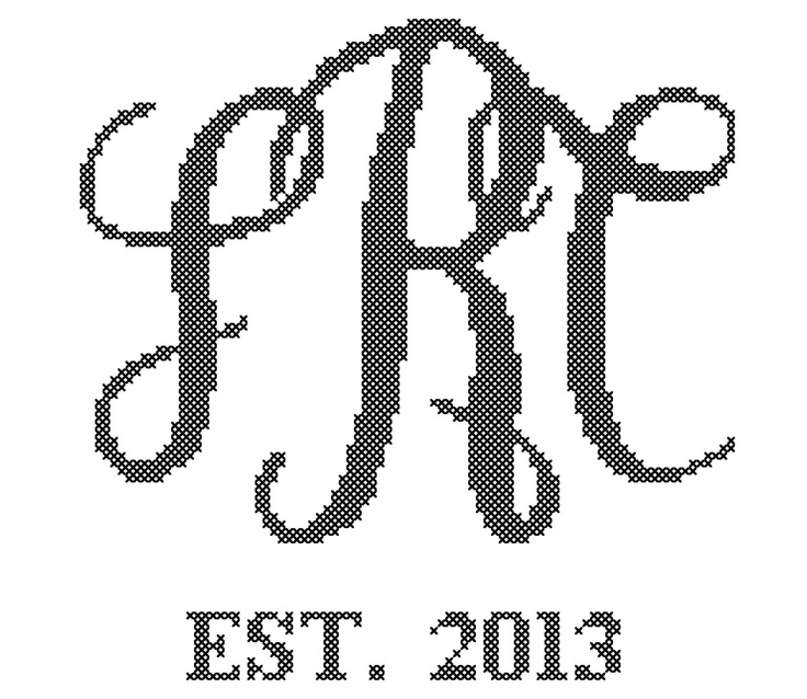 35 best cross stitch monograms images on pinterest crossstitch formal script monogram crossstitch pattern diy wedding solutioingenieria Choice Image