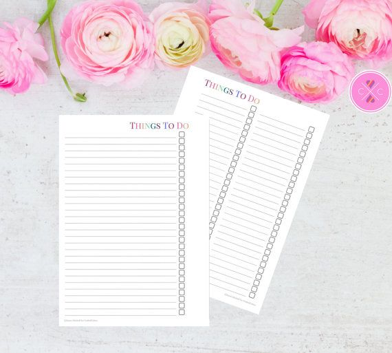 Keep track of your to do list using this A5 planner printable available in a one or two column format. Purchase this instant download and print out as many of these inserts as you need, just cut and hole punch to fit most A5/large size planners (A5 Filofax, large Kikki K etc). NOTE: This is a PRINTABLE PDF FILE, no physical product is provided. :::::::::::::::::::: What you get :::::::::::::::::::: -High resolution PDF of a To Do List insert with a multicolour theme. -TOU (terms of us...
