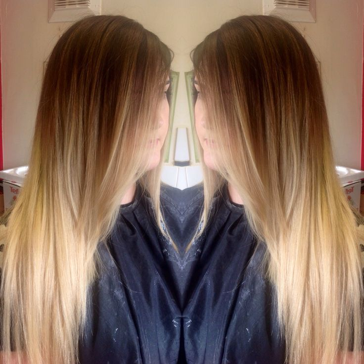 Dark Smudged Root To Light Blonde Ombr 233 By Me Hair And