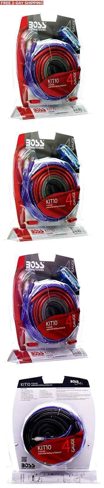 Amplifier Kits: Boss Audio Kit 4 Gauge Amp Amplifier Install Wiring Power Sub Car Subwoofer Kit BUY IT NOW ONLY: $30.23