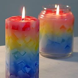 Step by step instructions on making chunk candles. In addition to the normal items required for standardpillar candles, You will need: Cookie Sheet with about a half-inch lip. Silicone sprayor Pam A utility knife or a small paring knife.…