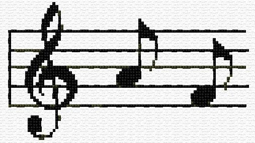 music notes cross stitch