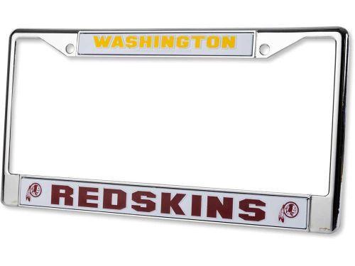 washington redskins chrome license plate frame sportsfan