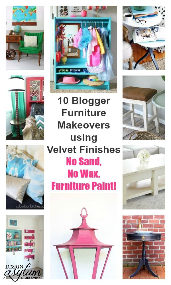 Velvet Finishes + Blogger Project Round Up (part 2. Diy Furniture Projects Furniture DesignPainted ...