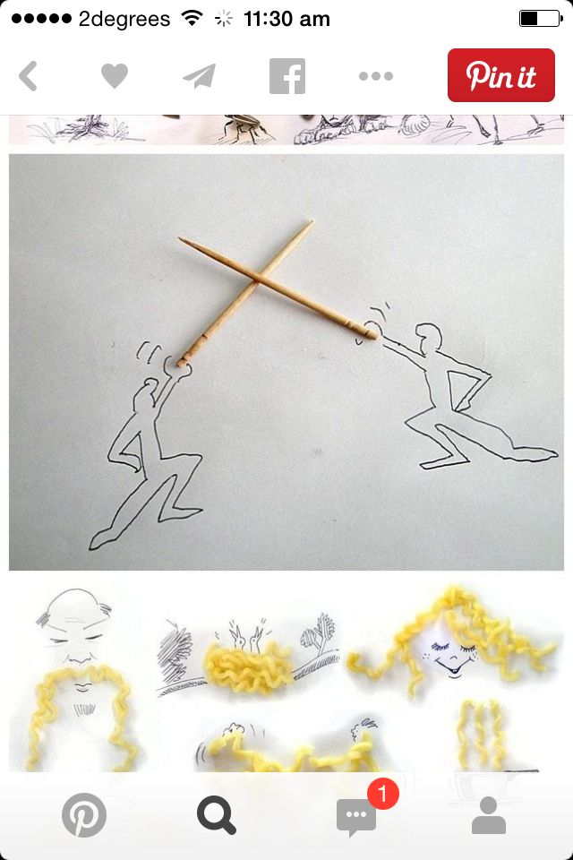 Tooth pick drawing