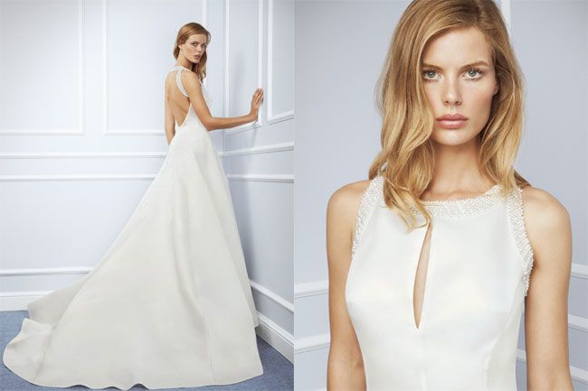 Accanto alla classicità dei modelli in total white, nella collezione abiti da sposa Blumarine 2016, si fanno notare delle creazioni in sfumature bon ton come il rosa ed il turchese all'insegna dell…