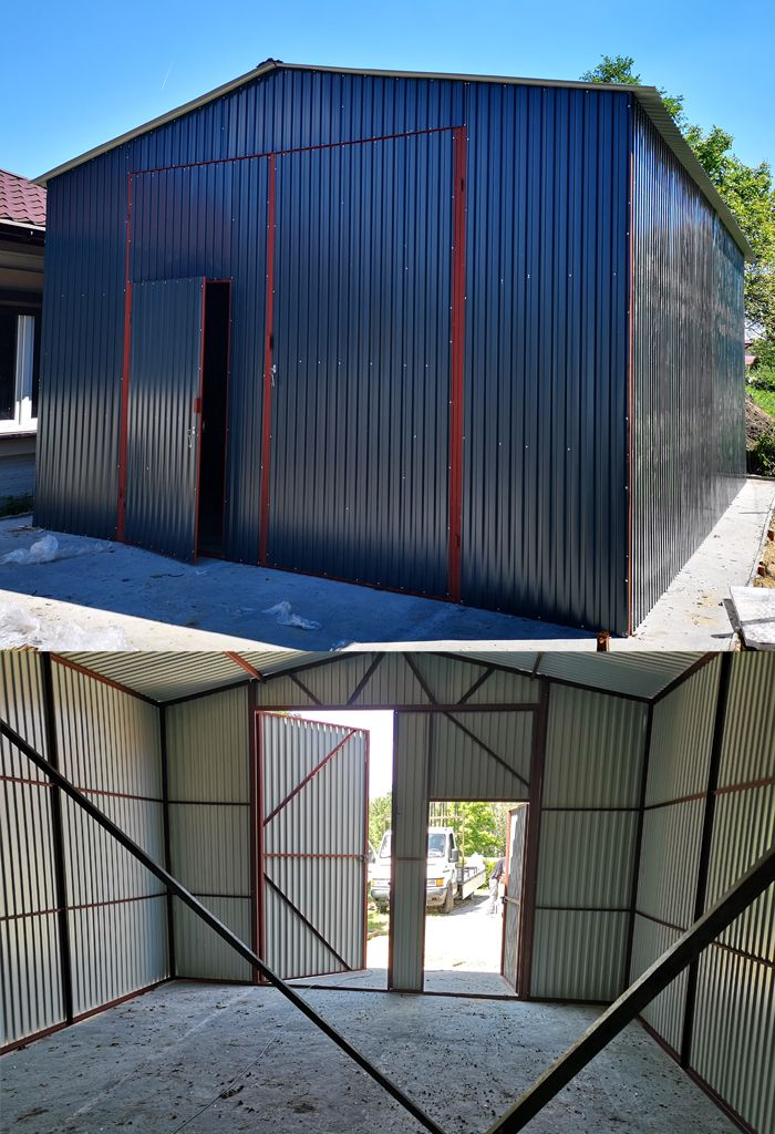 Garaz Blaszany Z Dachem Dwuspadowym Hale Wiaty 5x7 8085042730 Oficjalne Archiwum Allegro Roof Structure Steel Structure Outdoor Decor