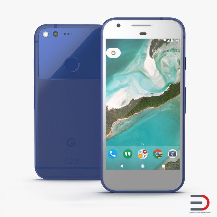 Google Pixel Phone Really Blue 3D model