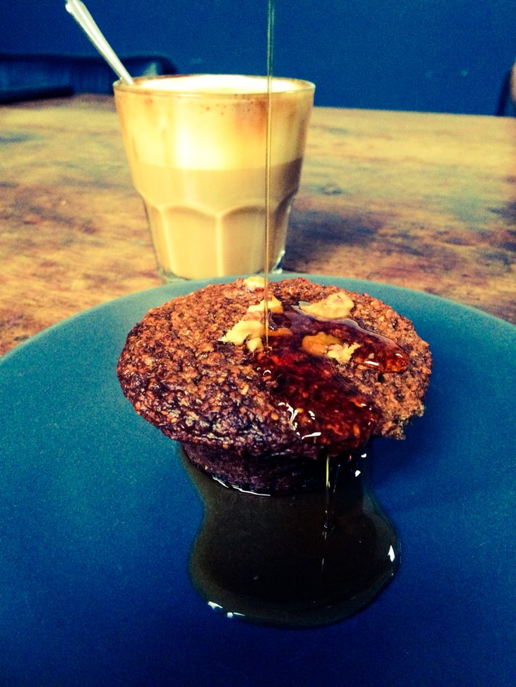 Breakfast With oatmealmuffins  and maplesyrup #healthyfood #homecooked