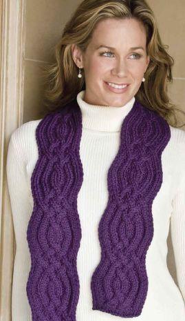 curvy-knit scarf