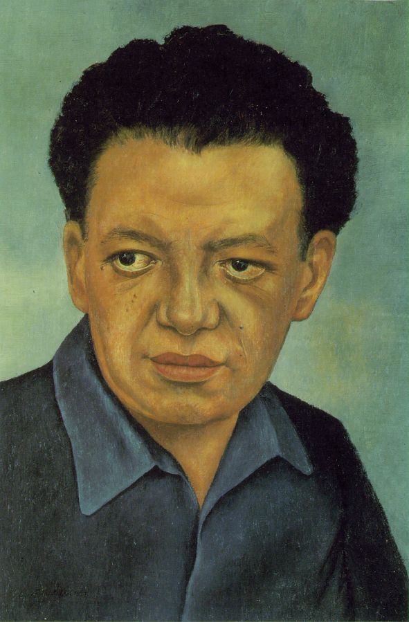 Kahlo, Frida Portrait of Diego Rivera 1937 Oil on wood 18 x 12 1/2 in Gelman Collection, Mexico City
