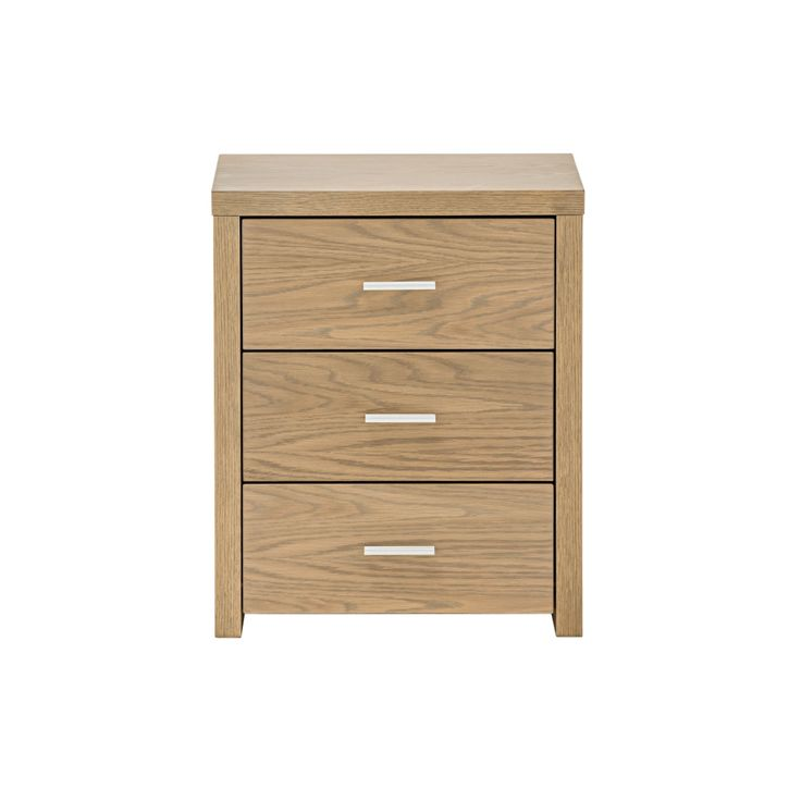 Slim 3 Drawer Bedside Table