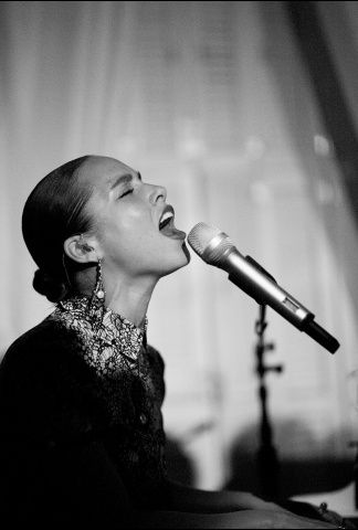Alicia Keys performed at The MET Costume Institute Gala after party