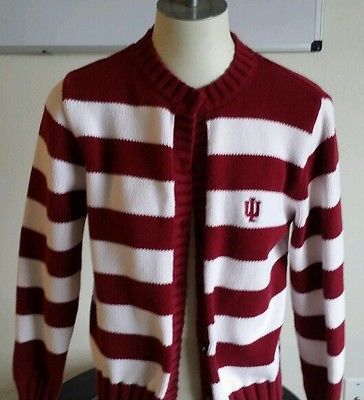 Women's Crable Indiana Hoosiers Button Down Cardigan Size ...