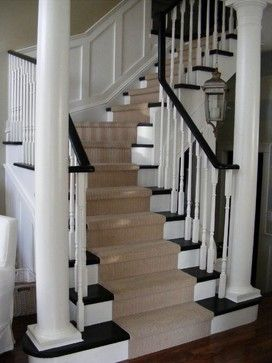 Stair runner ideas | Stair Carpet Runner Install Design Ideas, Pictures, Remodel, and Decor