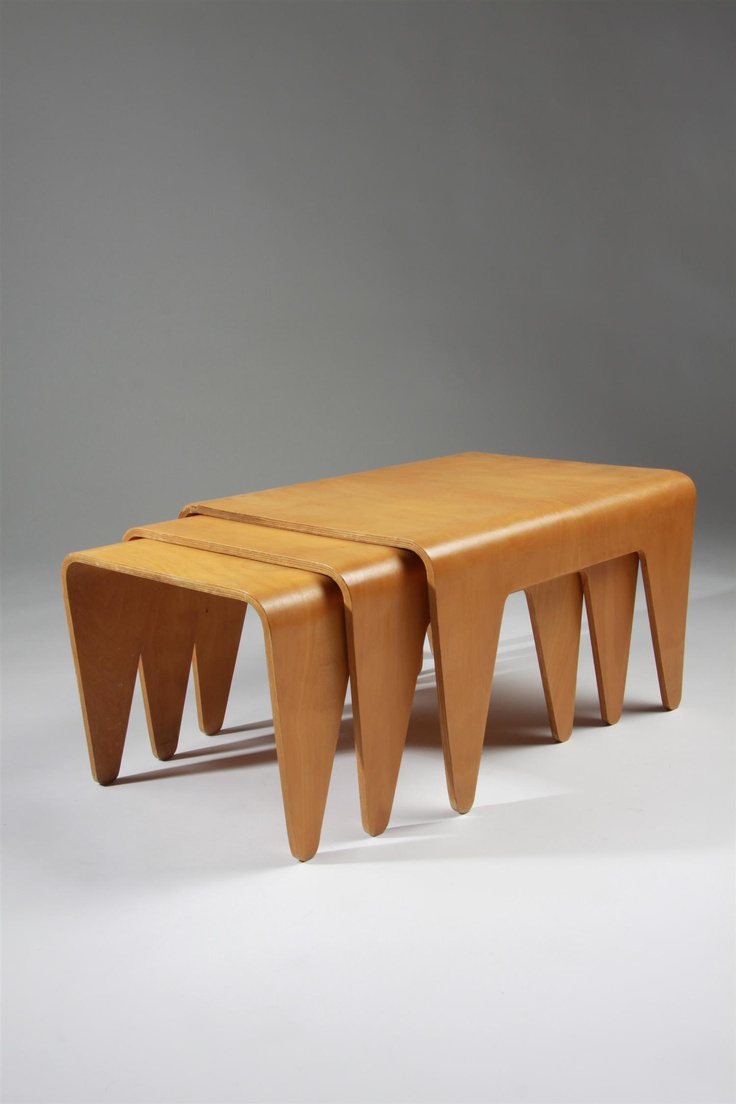 Lovely Nest Of Tables, Designed By Marcel Breuer For Isokon, England.