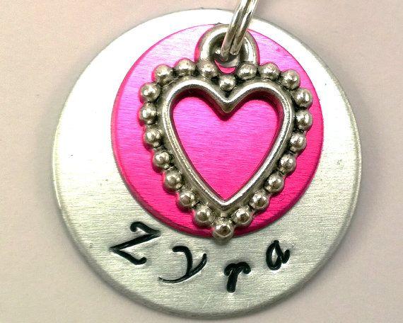 Heart pet tag,pink pet tag,dog tag,personalized dog tag,engraved dog tag,custom pet id tag,pet id tag,aluminum pet tag,cat tag,small dog tag