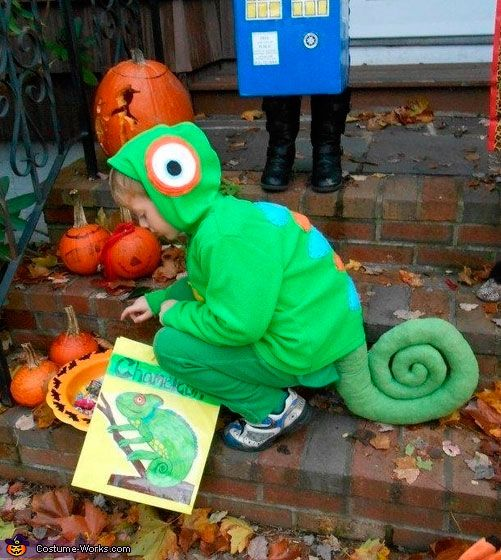 Chameleon costume for kids, carnival and Halloween - Disfraz de camaleon para niños, disfraces animales carnaval