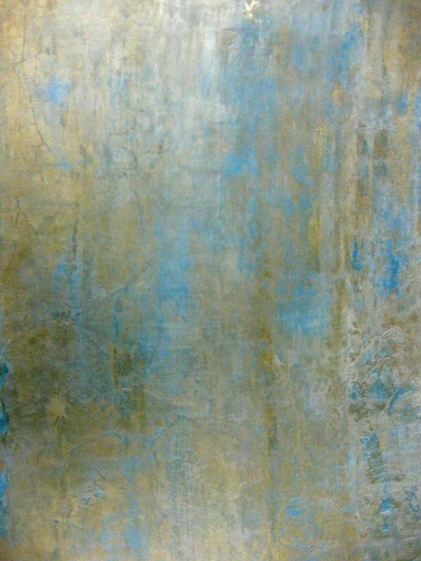 farbiger dekor streichputz - schön im weißen Schlafzimmer