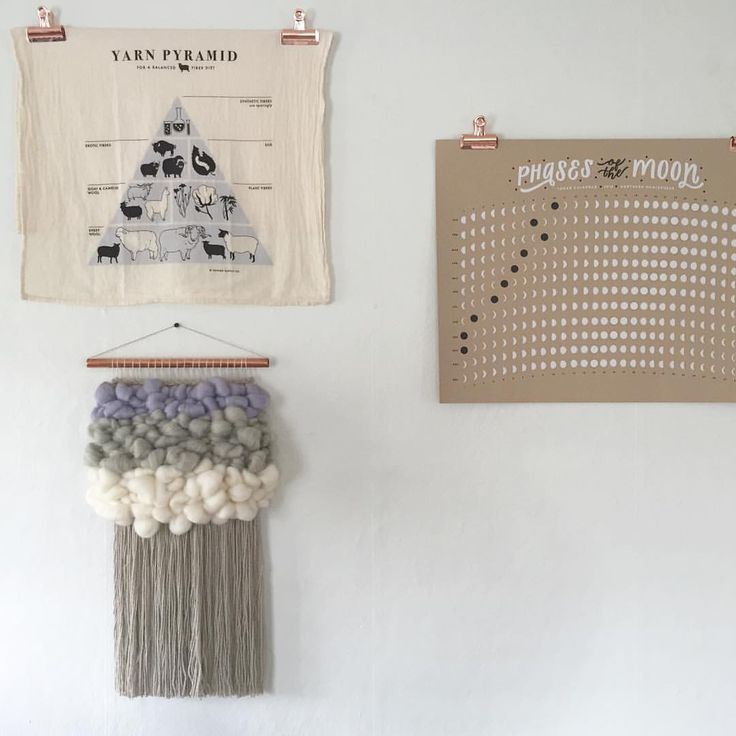 "Cam Kennedy on Instagram: ""We finally got these babes up... Something is still missing but I trust we'll find the perfect thing to fill that space!!!""  ☁️ woven wall hangings weave witch wool & needle by cam kennedy"