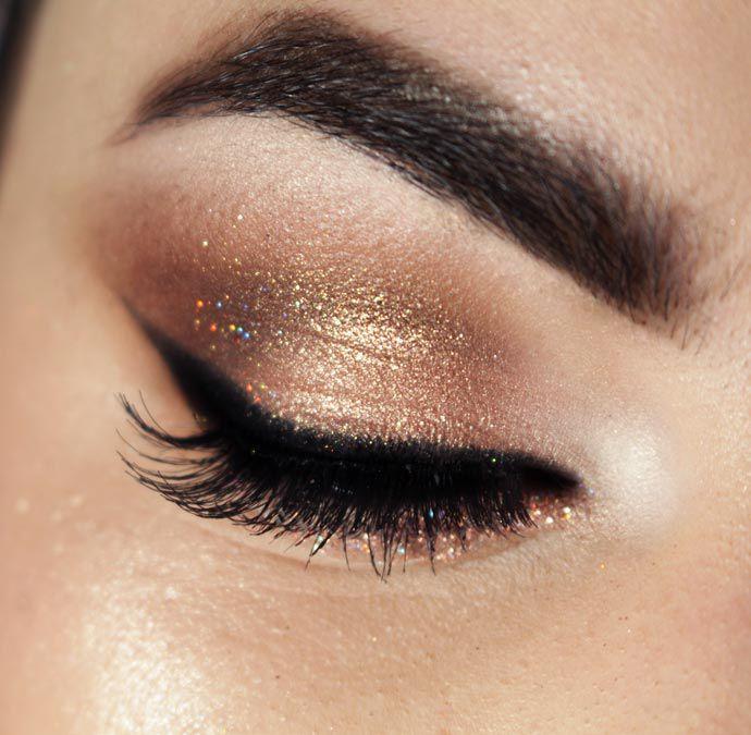 Tutorial – maquiagem ouro rosa para o Réveillon