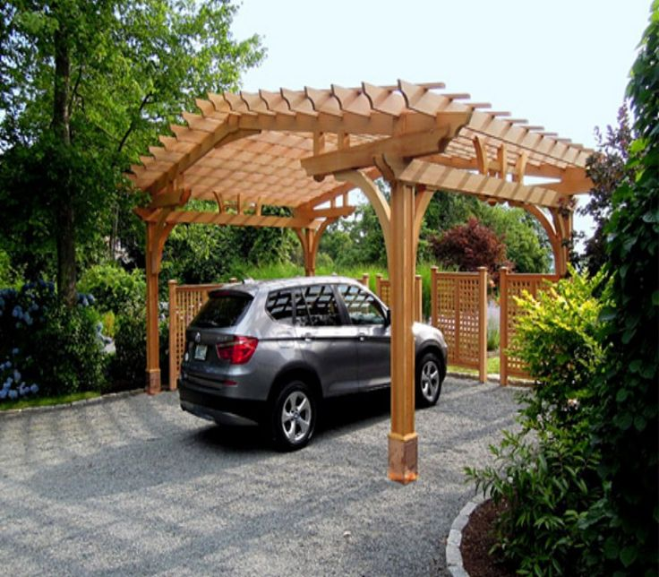 Best 25 pergola carport ideas on pinterest for Carport landscaping ideas