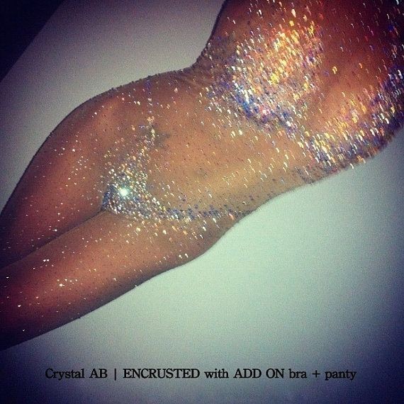 Crystallized Catsuit ADD ONS by dbleudazzled on Etsy