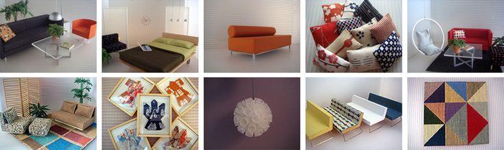 minimodernistas |, de meados do século Verdadeiramente moderna e mobiliário de casa de bonecas contemporâneas. Muito legal.