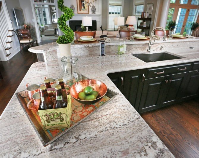 Multi Level Granite Kitchen Countertop Outdoor Kitchen Countertops Granite Kitchen Kitchen Countertops
