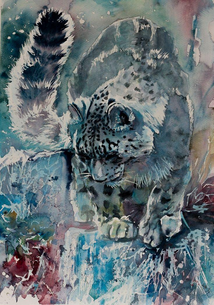 ARTFINDER: Snow leopard by Kovács Anna Brigitta -