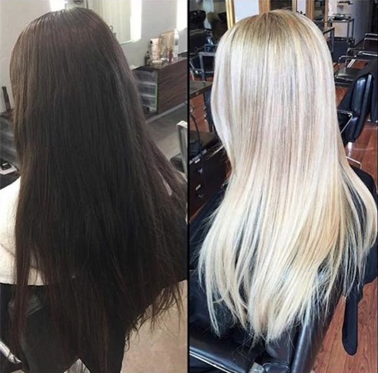 Brunette to blonde within 3 months by #Olaplex by @luxelab.