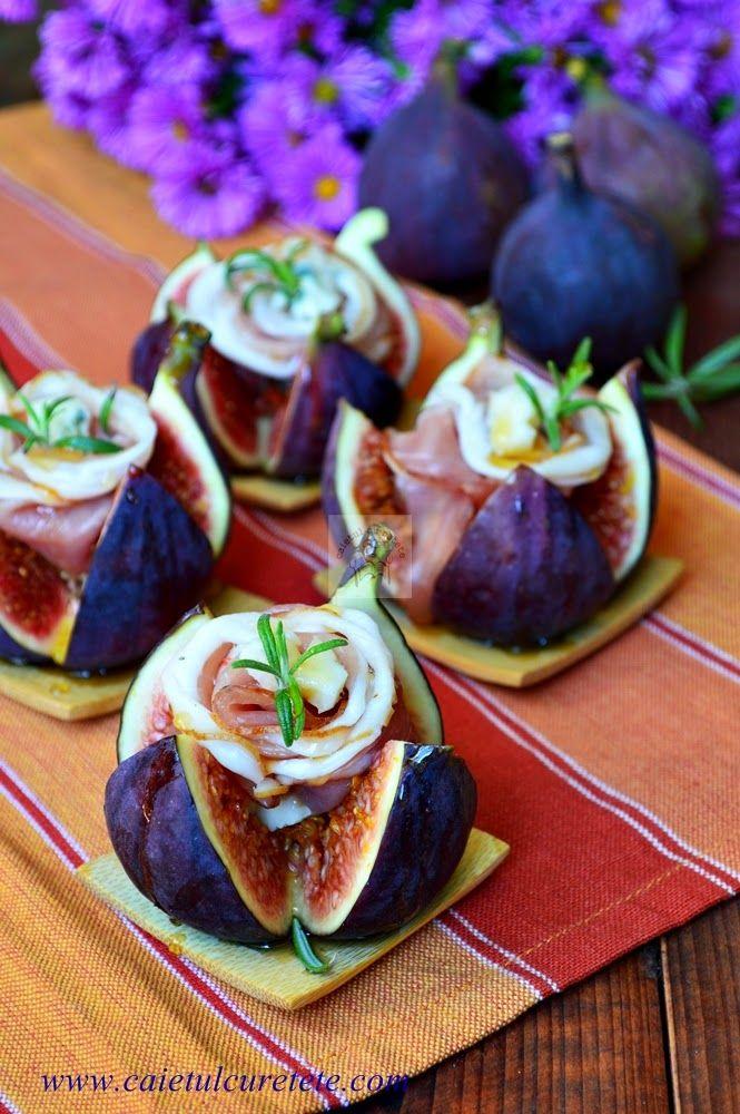 Aperitiv rapid cu smochine, prosciutto si gorgonzola | CAIETUL CU RETETE