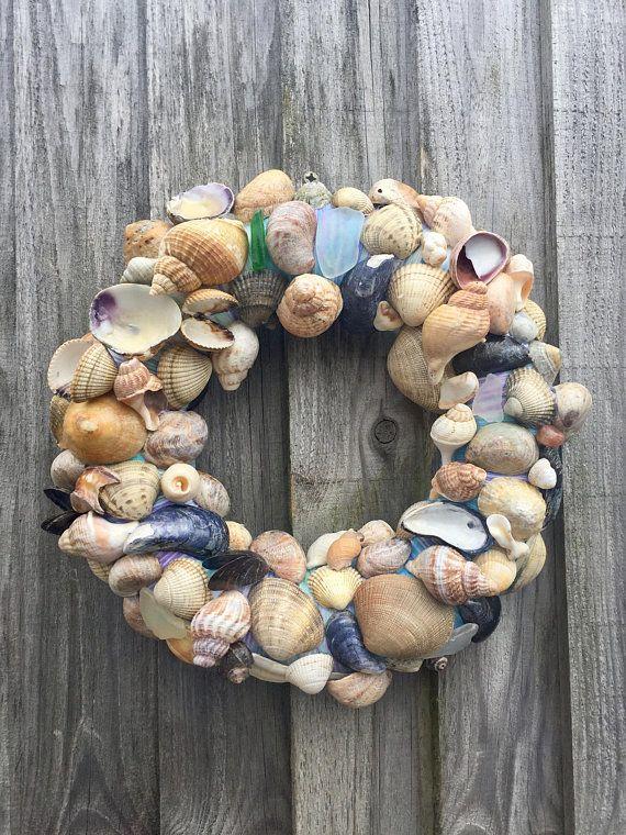 Shell Wreath, Seashells, Sea Shells, Wreath, Door Wreath, Wall Art
