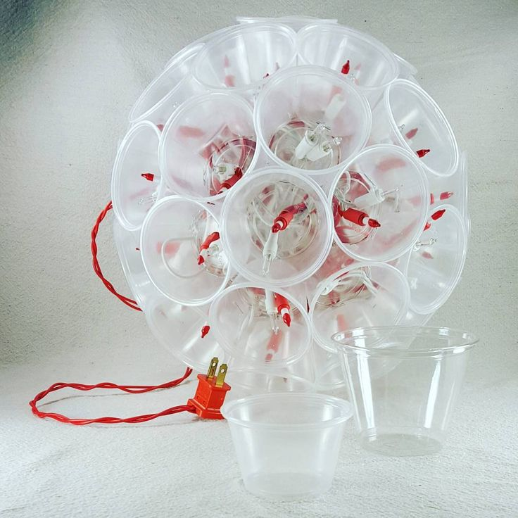 mini #sparkleball made with Dart 4 oz portion cups