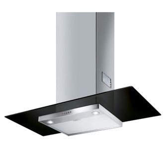 Image of Smeg 90cm Cooker Hood in Black Glass Stainless Steel 90cm Cooker Hood