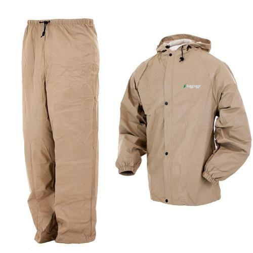 Frogg Toggs Pro Lite Rain Suit Khaki - M/L