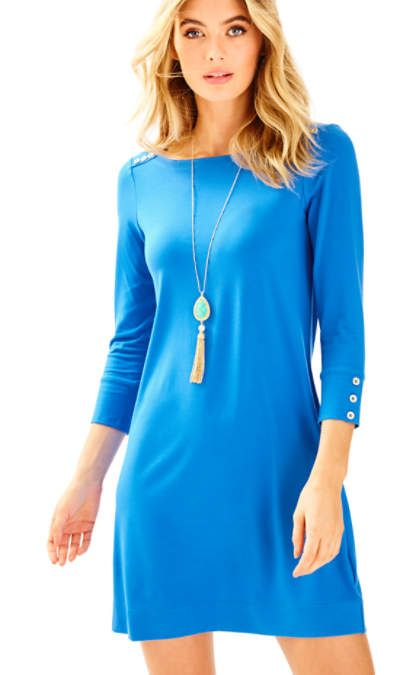 "UPF Clothing | UPF50+ ""Sophie"" dress in ""Lapis Blue"" by Lilly Pulitzer"