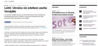 Финны перепечатали американскую статью, что Украина России продает оружие до сих пор.