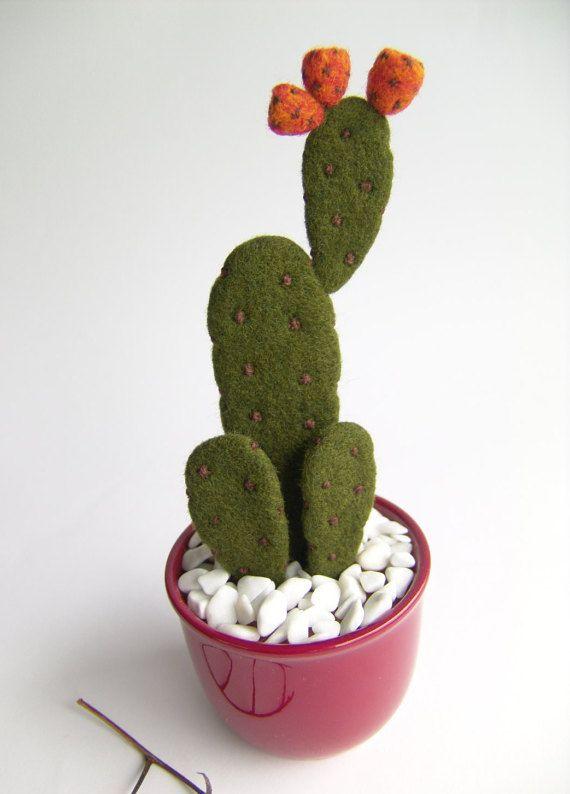 Aguja fieltro Cactus Cactus planta en maceta por felttess en Etsy