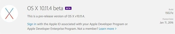 The First betas of  WatchOS 2.2, TVOS 9.2 and OS X 10.10.4 are released