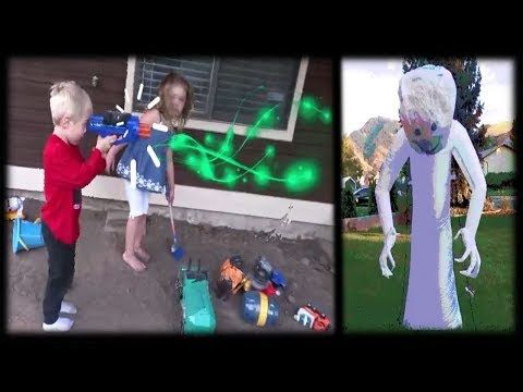 Spooky Ghost Comes Alive, Sweet Max protects Connor! Cute Toddlers Funny Ghost Hunting Video
