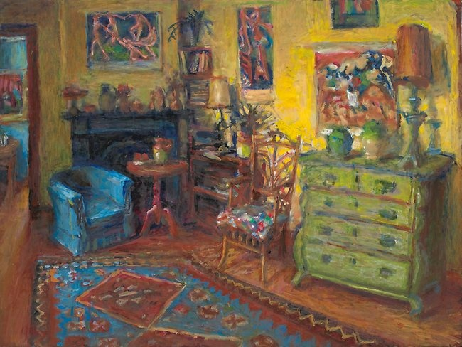 Yellow room and French closet | Margaret Olley