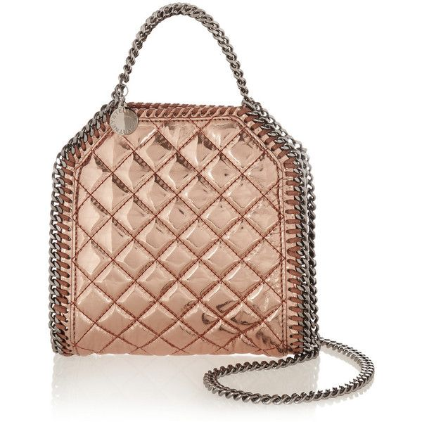 Stella McCartney The Falabella tiny metallic faux patent-leather... (2.660 BRL)…