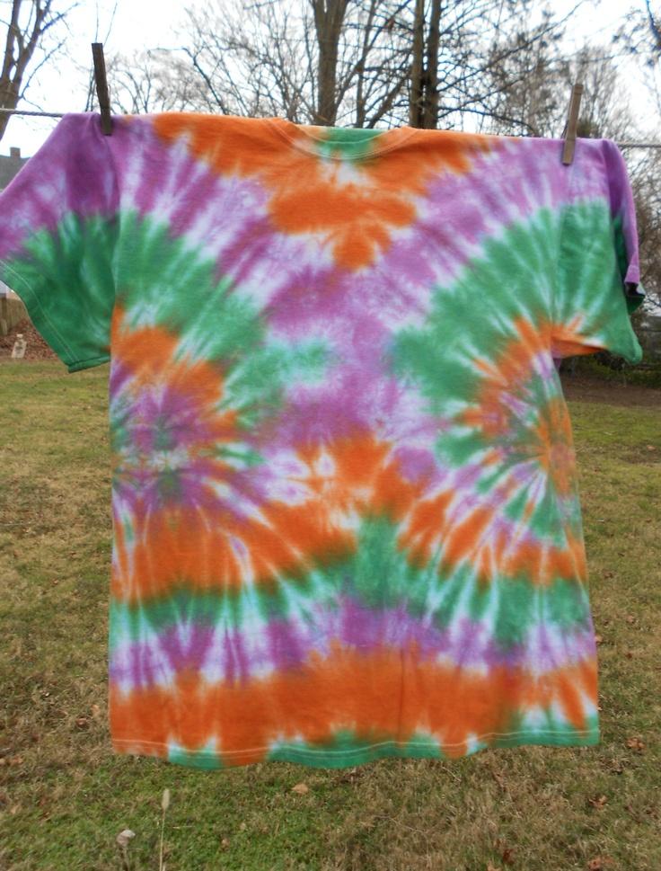 inverse spider tie dye