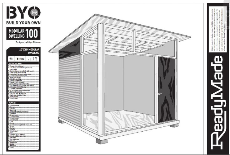 Modern Shed Design | MD100 – Plans for Modern Shed · Red Cover Studios
